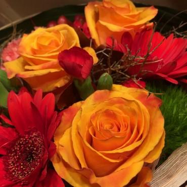 Flower box, boite à fleurs couleurs automnales, Des Lys & Délices, Fleuriste, Sion
