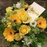 Bouquet jaune surprise, livraison de fleurs en Valais, Des Lys & Délices, Sion,