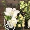 Arrangement de fleurs blanches, Des Lys & Délices, Fleuriste à Sion