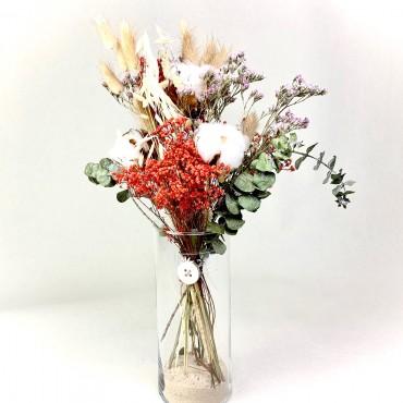 Bouquet de fleurs séchées en vase, Des Lys & Délices, Fleuriste à Sion