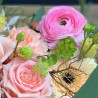 Arrangement tendre dans les teintes roses, Des Lys & Délices, Sion