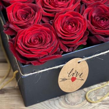 Flower box, boite à fleurs couleurs rouge et nounours, Des Lys & Délices, Sion