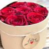 Flower box, boite à fleurs naturelle avec des roses de couleurs rouge, Des Lys & Délices, Sion