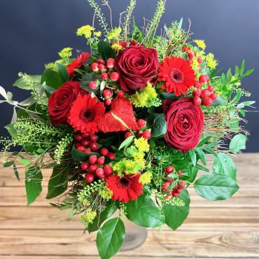 Bouquet rouge passion, Des Lys & Délices, Sion