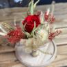 Bouquet de fleurs séchées sous cloche, Des Lys & Délices, Fleuriste à Sion